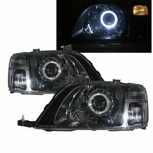 CR-V RD1-RD3 MK1 1996-2001 Guide LED Angel-Eye Headlight Black for HONDA LHD
