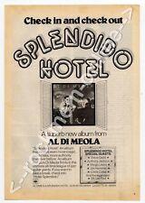 Al Di Meola Splendido Hotel LP Advert Black Music Magazine