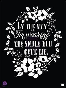 Prima Marketing 8 x 10 stencil, Smile #587192