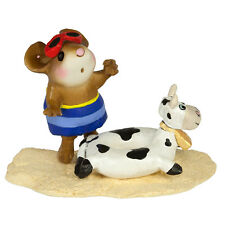 TINY TUBIE COW by Wee Forest Folk, WFF# M-394d, Limited Edition Beach Mouse