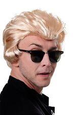 Perücke Herrenperücke Rockabilly King 50er Horror-Punk Vamir Biker Blond 45874