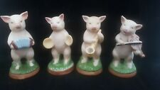 "RARE MINT SAXONY ""PIGS BAND"" COMPLETE SET LIKE FAIRINGS GERMAN BISQUE PORCELAIN"