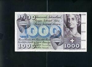 Switzerland Swiss 1000 franken francs 1970 - VF-