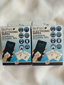 2-Pack Electronic Cleaning Wipes BioPure 200 Ct Phone Tablet Laptop Smart Watch