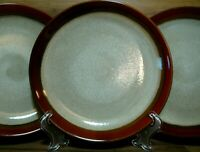 """SET OF 3 - GIBSON ELITE - COUTURE BANDS RED - 8 1/4"""" LUNCH / SALAD PLATES"""