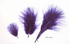 "Marabou Feathers Small 1-3"" fluffs Regal Purple 7 gram approx 105 per bag"