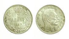 pcc1643_19) YUGOSLAVIA - SERBIA - PETER I° - 1 DINARA SILVER 1915