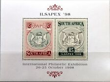 RSA Sudafrica South Africa 1998 blocco 70 isapex 98 stato stemma coat of arms MNH