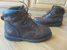 Mens Timberland Pro Series Work Boots Brown Leather Size 14 M