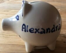 "Small Ceramic Piggy Bank Personalized Name "" ALEXANDRA """