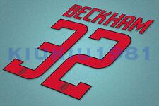 AC Milan Beckham #32 2008-2009 Awaykit Nameset Printing