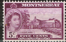 British Montserrat Island St. Anthony's Church stamp 1956