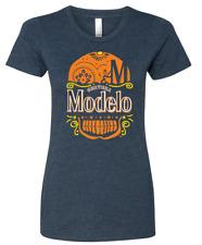 *NEW* Modelo Beer T-Shirt - Sugar Skull / Day of the Dead (Ladies Crewneck)
