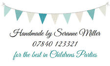 42 Large Personalised Labels / Address /Baby Shower Bunting No 246 (Stickers)