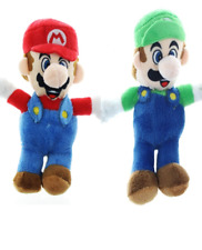 "Set of 2 Mario and Luigi Plush Dolls 8 ""each. Licensed Stuffed Toys. NWT"