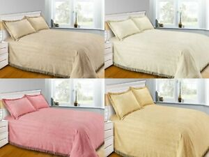 100% Pure Cotton Luxury Flat Candlewick Bedspread