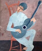Don Furmas Portrait Painting Santa fe New Mexico Artist Guitar Player