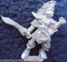 1989 DARK ELF MB3 RAD 3 REGGIMENTO TROOPER C Marauder elven army drow WARHAMMER GW