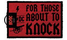 OFFICIAL AC/DC per chi sta per bussare Zerbino - 100% Di Cocco Gomma Tappetino di porta sul retro