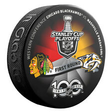 2017 NASHVILLE PREDATORS vs CHICAGO BLACKHAWKS Stanley Cup Playoff Hockey Puck