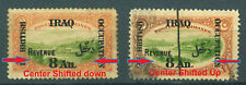 Iraq Irak in British Occ.1920, Revenue,Green Center Shifted Error,Very Rare 4284