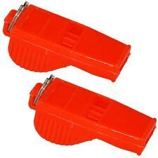 2 x Whistle Referee Coach Sports School Football Rugby Dog Training - Orange