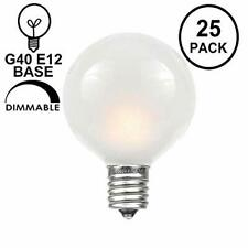 Novelty Lights 25 Pack G40 Outdoor String Light Globe Replacement Bulbs Frosted