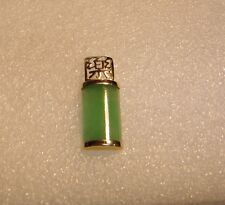14K YELLOW GOLD WITH JADE CYLINDRICAL COLUMN NECKLACE PENDANT N620-J