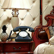 Classical Retro Vintage Corded Telephone Home Black Old Fashioned Rotary Phone