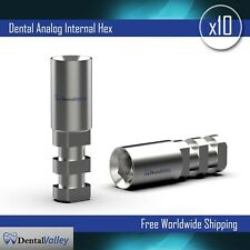 10x Dental Analog Analogs For Internal Hex Rp Dental Implant Implants Lab Use