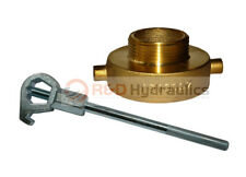 Fire Hydrant Adapter Combo 2 12 Nstf X 1 12 Nst M With Hd Hydrant Wrench