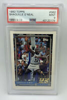 1992 Topps SHAQUILLE O'NEAL #362 Rookie Card Magic PSA 9 🔥HOF📈 Lakers🏆