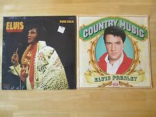 2 Elvis Presley SEALED LP's,  Country Music & Pure Gold, Time Life Records/RCA