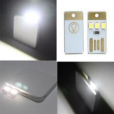 2Pcs Mini Portable USB LED Light Nice Pocket Card Lamp Mobile Power Camping Bulb
