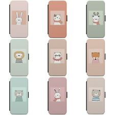 CUTE BABY ANIMAL FUNNY ANIMALS WALLET FLIP PHONE CASE COVER FOR IPHONE MODELS