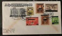 1944 Manila Philippines Japan Occupation First Day Commercial Cover FDC N4-7 B