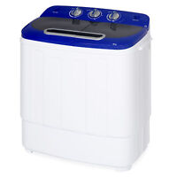BCP Portable Mini Washing Machine w/ Hose, 13lbs Capacity - White/Blue