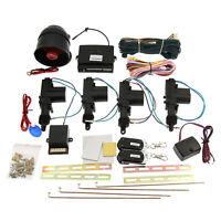 4 Door Power Central Lock Kit 2 Keyless Entry Car Remote Control + Alarm Siren