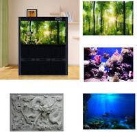 3D Effect PVC Background Aquarium Ocean Landscape Poster Fish Tank Background