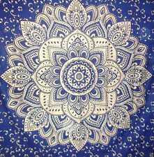 Indian gold flower mandala wall hanging king size tapestry bedding bedspread