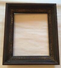 Antique Aesthetic Eastlake Victorian Deep Wood Carved Liner Frame 14 x 12