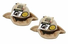 Set Of 2 Plush Cowboy Hat Dog Squeaker Squeaky Toy–Interactive Soft Toy for Dogs