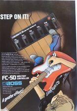 vintage magazine advert 1992 BOSS FC 50 step on it