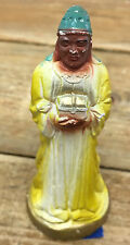 Vintage Nativity Creche King Yellow Wiseman Religious Christmas Plaster Figurine