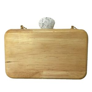 Women Wooden Clutch Bag / Perfect for Summer Outfits