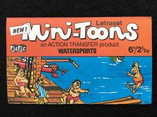 A&BC 1970 Mini-Toons Watersports - Unrubbed Letraset Action Transfer