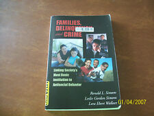 Families, Delinquency and Crime Textbook Simons,Simons and Wallace 2004