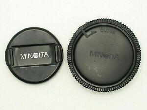 Minolta Genuine Front Lens Cap Alpha AF LF-1149 49mm Rear Lens Cap LR-1000 1pair