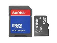 Memoria MICRO SD SanDisk 2GB Trans Flash + adattatore per mp3 mp4 navigatori GPS