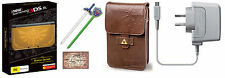 New Nintendo 3DS XL Hyrule Edition with charger & Legend of Zelda Pouch Kit